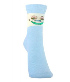 Носки голубые на ребенка 5-7 лет