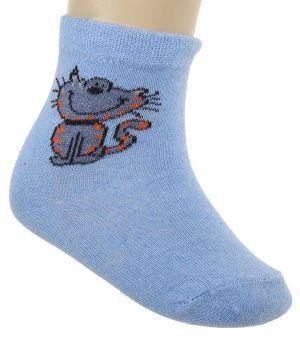 Носки для девочки Котенок, цвет голубой
