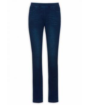Женские брюки-джегинсы темно-синего цвета на размер М