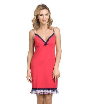 Красная женская сорочка на размер L
