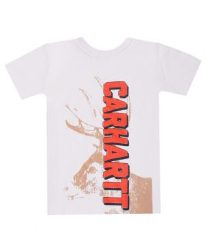 Трикотажная футболка молочного цвета CARHARTT