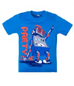 Футболка Робот синего цвета