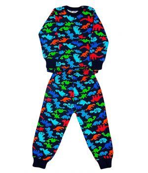 Пижама с начесом для мальчика Мультик