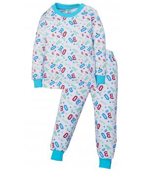 Пижама Алфавит для мальчика белого цвета