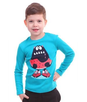 Джемпер для мальчика 9-10 лет Арбузный монстр