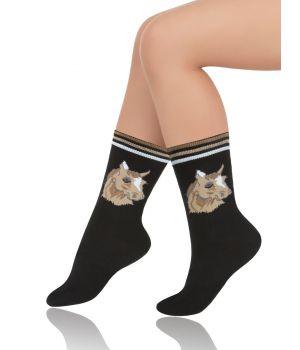 Носки детские черного цвета на размер 31-34