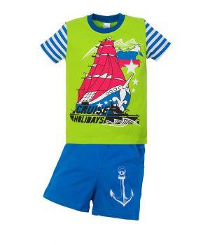 Футболка и шорты для мальчика Корабль