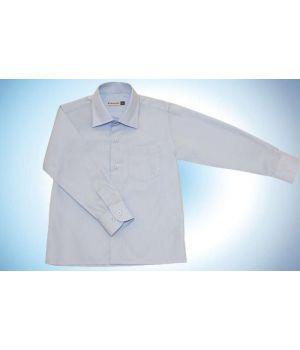 Голубая рубашка с карманом