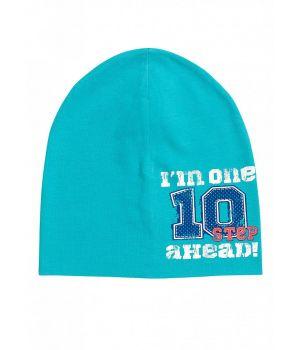 Бирюзовая шапка для мальчика 10-11 лет