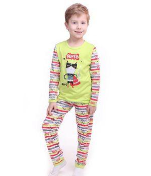 Пижама Супер кот для мальчика 1 года