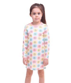 Хлопковая сорочка для девочки 1-2 лет