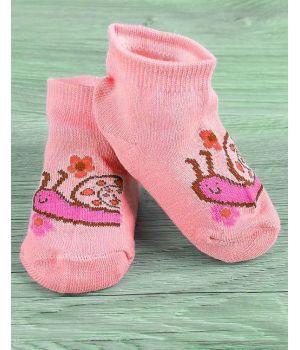 Розовые носки для девочки Улитка