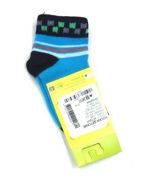 Черно-голубые носки с квадратами