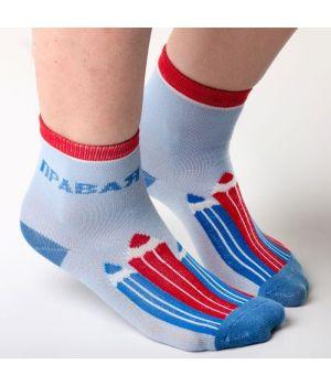 Голубые детские носки Карандашики