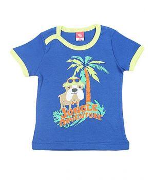 Синяя футболка для мальчика Приключения в джунглях