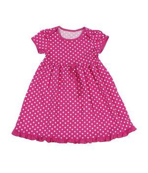 Яркое платье для девочки 1 годика в горошек