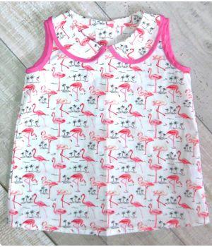 Платье для девочки из бязи Фламинго