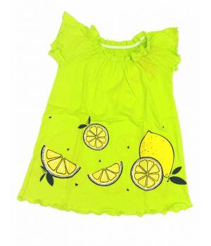 Платье для девочки Лимоны салатового цвета